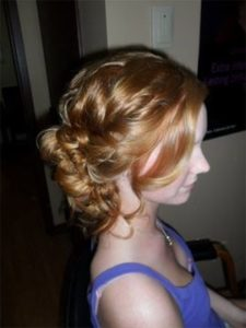 updo and curls from shear image in grimsby